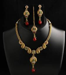 Buy best polki necklace for wedding Necklace online