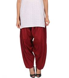 Buy Maroon Pure Cotton Semi Patiala Bottoms other-apparel online