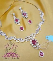 Buy Elegant Ruby & A.D Necklace Necklace online