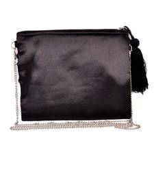Buy Black Silk  Zip Top Bag wallet online