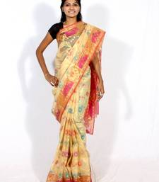 Buy Organza Banarasi Zari Resham Work Saree organza-saree online