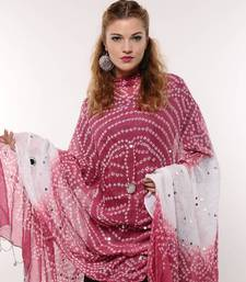 Buy Amazing Pink Bandhej Dupatta stole-and-dupatta online