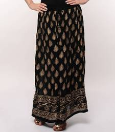 Buy Black Gold Print Skirt skirt online