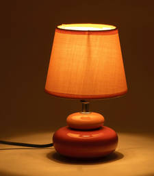 Buy Yellow Fabric Shade Ceramic Base Table Lamp table-lamp online