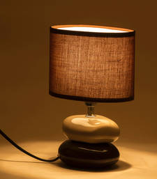 Buy Brown Ceramic Stone Style Base Table Lamp table-lamp online