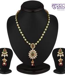 Buy Sukkhi Classy Gold Plated CZ Rodo Light Necklace Set great-online-shopping-festival-2014 online