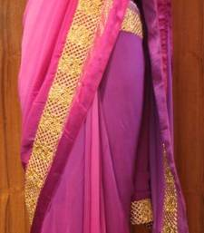 Mushrooming Purples Saree shop online