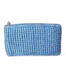 Buy Crochet Clutch in Blue clutch online