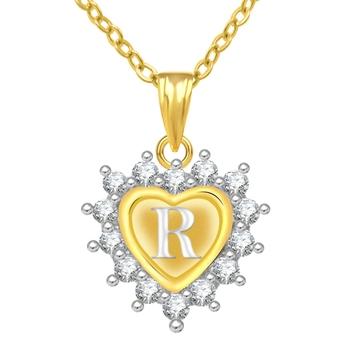 R Alphabet In Heart Buy Jewelscart Gold Pl...
