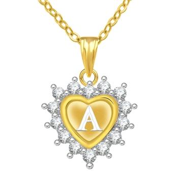 M Alphabet In Heart Buy Jewelscart Gold Pl...