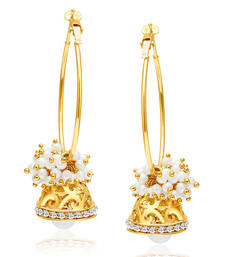 Buy Exquisite Gold Plated AD Earring For Women hoop online