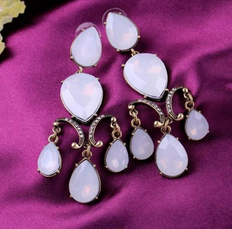 Buy White Chandelier Earrings Online