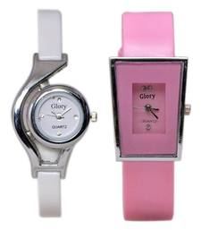 Buy Glory Deginer Multicolor Analog Watch Combo (white, & Pink) gifts-for-her online