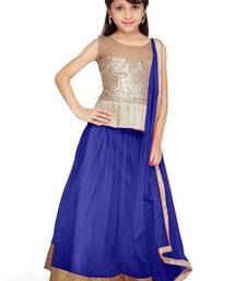 Buy New Arrvial Kids Party Wear Soft Net Blue Color Lehenga Choli kids-lehenga-choli online