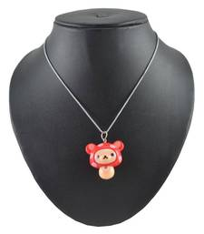 Buy ANGEL GLITTER RED HUSY PENDANT WITH CHAIN gifts-for-kid online