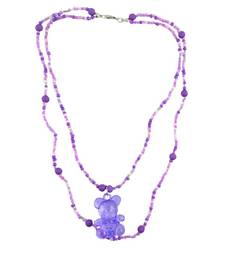 "Buy ANGEL GLITTER Gifts for Kids ""Purple Teddy Cute"" Necklace gifts-for-kid online"