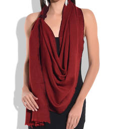 Buy Reversible Maroon and Red Pure Wool Shawl shawl online