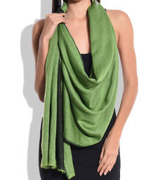Buy Reversible Black and Green Pure Wool Shawl shawl online