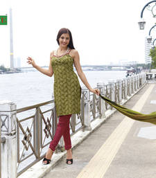 Buy Pure cotton dressmaterial with cotton duppata dress-material online