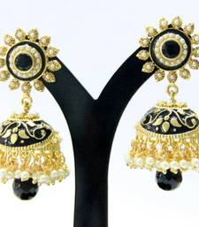 Buy BEAUTIFUL black stone meenakari jhumka Other online