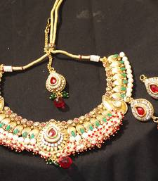 Buy Pearl & Kundan neck set  Necklace online
