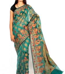 Buy Organza cotton fancy banarasi saree organza-saree online