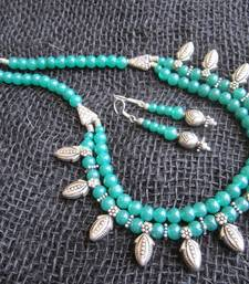Buy Green stone necklace sets necklace-set online