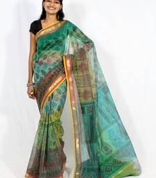 Buy Supernet fancy multi-colour printed saree supernet-saree online