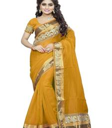 Buy yellow embroidered bhagalpuri saree with blouse bhagalpuri-silk-saree online