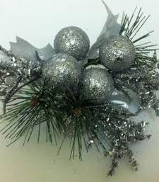 Buy Christmas glitter silver cherries christmas-gift online