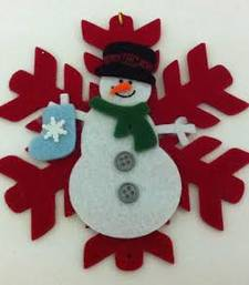 Buy Christmas,red snowflakes with Snowman christmas-gift online
