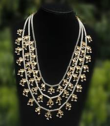 Buy Kundan and Pearl Teenlada rani haar necklace Necklace online