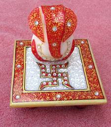 Buy Marble chowki Ganesh other-home-furnishing online