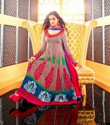 Buy Multi color anarkali suit with heavy work anniversary-gift online
