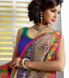 Buy Winter designer jacquard saree christmas-gift online