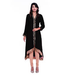 Buy Black Georgette embroidered stitched salwar readymade-suit online