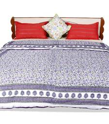 Buy Purple printed cotton quilts quilt online