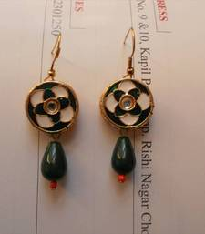 Green Gold earrings-130212 shop online