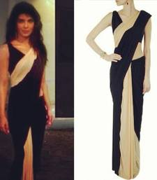 Priyanka Chopra Beige and Black saree shop online