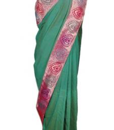Buy Raama Green Saree banarasi-silk-saree online