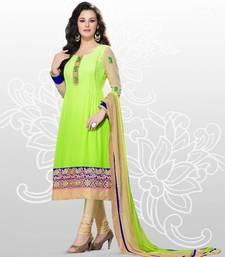 Elegant Georgette Anarkali  Printed Embroidered suit materials D.No SW1103 shop online
