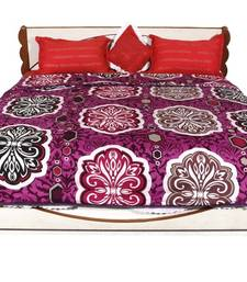 Buy Purple printed Polyester Quilts quilt online