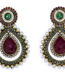 Buy Red Drop Shaped Danglers danglers-drop online