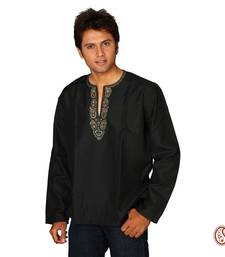 Buy Dazzling Cotton Kurta with Paisley design men-kurta online