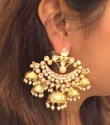Buy beautiful kundan chandbali jhumka pair jhumka online