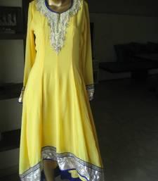 Buy Yellow Anaarkali anarkali-salwar-kameez online