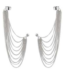 Buy Bunch Of Falling chains Silvery Ear-Cuff danglers-drop online