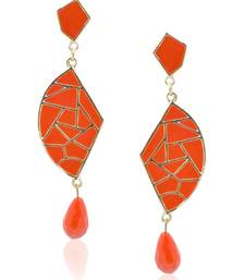 Buy Mosaic tangerine Beauty Dangler Earring danglers-drop online