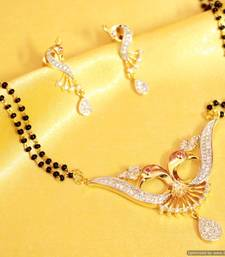 Buy Peacock Diamond Look Mangalsutra mangalsutra online