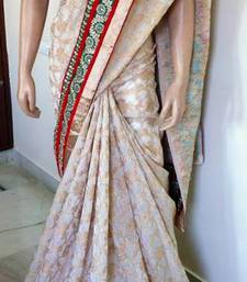 Buy WHITE LOVE SAREE tussar-silk-saree online